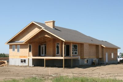 Professional new construction roof installation in Edmonton